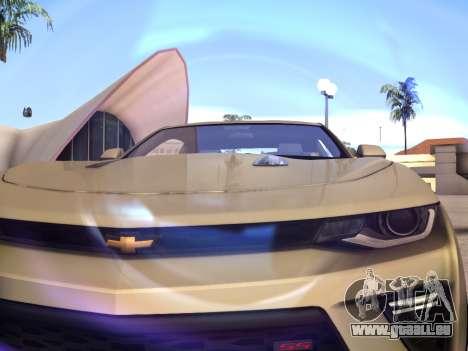 Chevrolet Camaro SS 2016 pour GTA San Andreas vue arrière