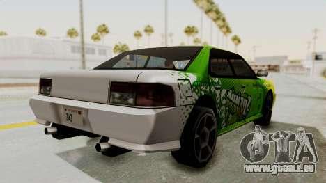 Sprunk Sultan pour GTA San Andreas sur la vue arrière gauche