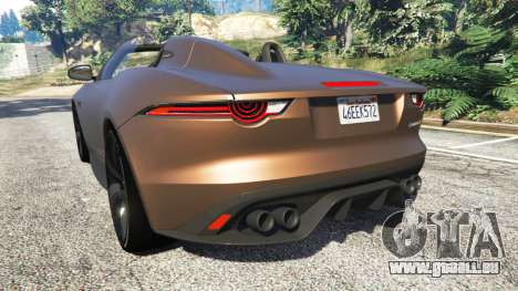 GTA 5 Jaguar F-Type Project 7 2016 arrière vue latérale gauche