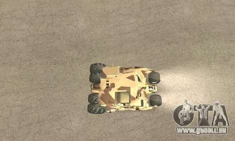 Army Tumbler Rocket Launcher from TDKR pour GTA San Andreas roue