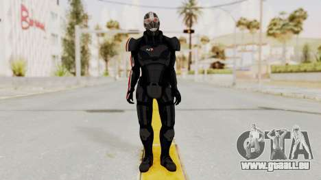 ME2 Shepard Default N7 Armor Recoon Hood Helmet für GTA San Andreas zweiten Screenshot