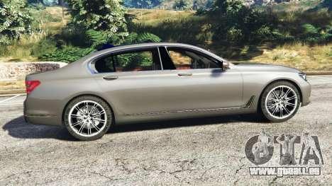 GTA 5 BMW 750Li xDrive (G12) 2016 linke Seitenansicht