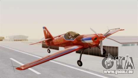 Zlin Z-50 LS v3 pour GTA San Andreas sur la vue arrière gauche