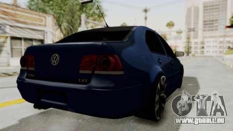Volkswagen Bora 1.8T pour GTA San Andreas sur la vue arrière gauche
