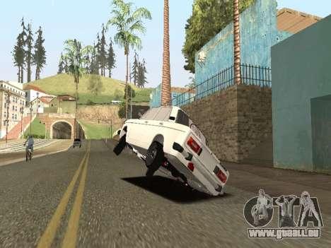 BA3 2106 AVTOS pour GTA San Andreas sur la vue arrière gauche