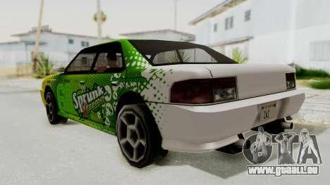 Sprunk Sultan pour GTA San Andreas laissé vue