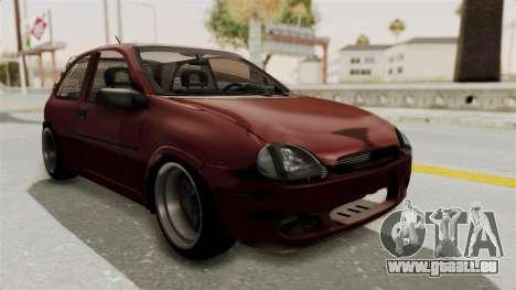Chevrolet Corsa Hatchback Tuning v1 pour GTA San Andreas