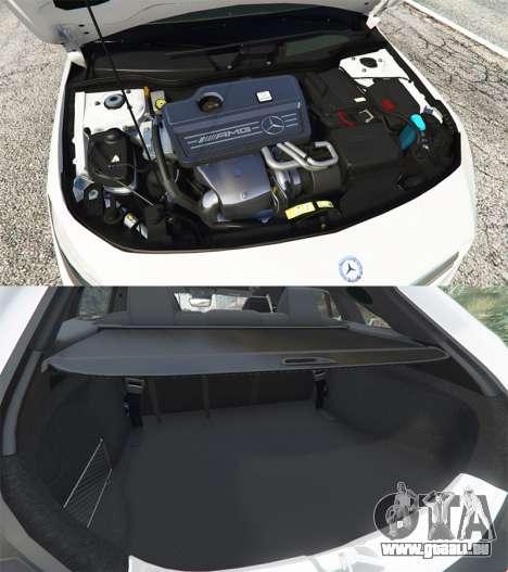 GTA 5 Mercedes-Benz CLA 45 AMG [HSR Wheels] droite vue latérale