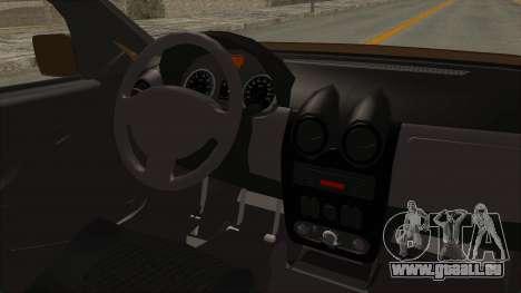 Dacia Logan MCV Van pour GTA San Andreas vue intérieure
