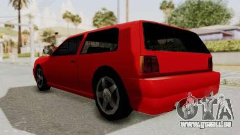 Flash Sport pour GTA San Andreas sur la vue arrière gauche