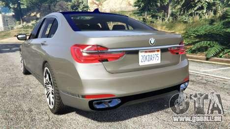 GTA 5 BMW 750Li xDrive (G12) 2016 hinten links Seitenansicht