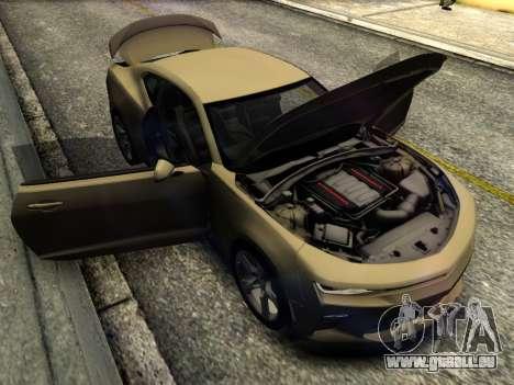 Chevrolet Camaro SS 2016 pour GTA San Andreas vue intérieure