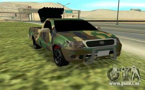 Toyota Hilux 2013 pour GTA San Andreas vue de droite