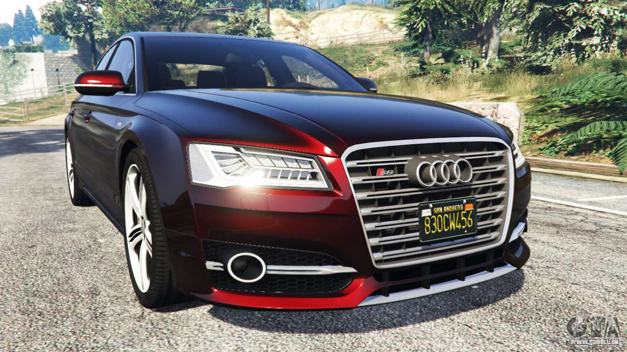 audi s8 w12 2016 pour gta 5. Black Bedroom Furniture Sets. Home Design Ideas