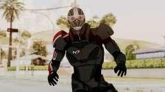ME2 Shepard Default N7 Armor Recoon Hood Helmet