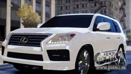 Lexus Lx 570 2014 sport pour GTA 4