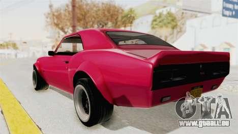 Chevrolet Camaro SS 1968 pour GTA San Andreas vue de droite