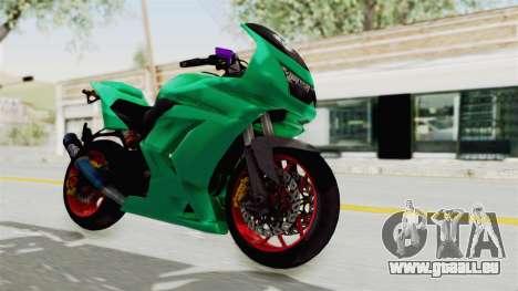 Kawasaki Ninja 250R Race pour GTA San Andreas vue de droite