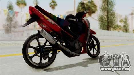 Suzuki RGX 120 pour GTA San Andreas laissé vue