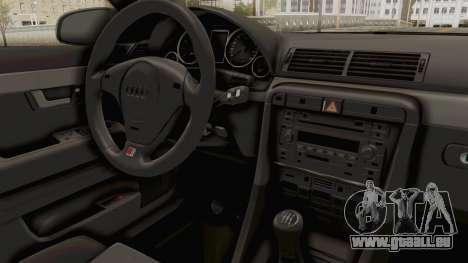Audi A4 2002 Stock pour GTA San Andreas vue arrière
