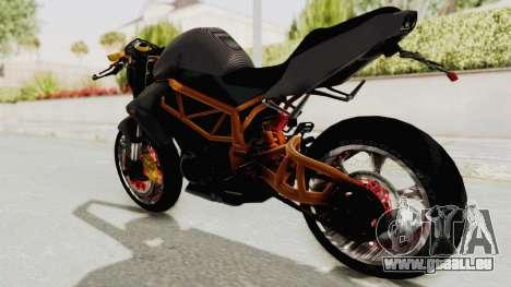 Kawasaki ER 6N Superbike für GTA San Andreas linke Ansicht