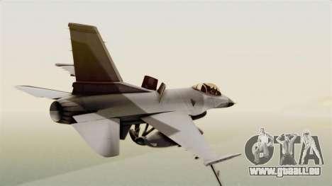 F-16 Fighting Falcon pour GTA San Andreas laissé vue