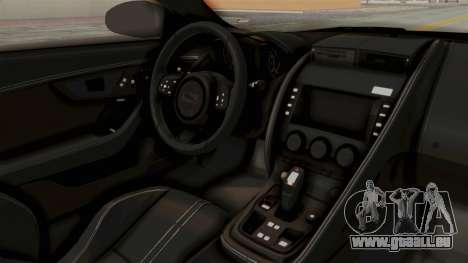 Jaguar F-Type L3D Store Edition pour GTA San Andreas vue intérieure