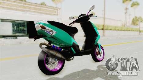 Piaggio 200 CC Lockstyle pour GTA San Andreas laissé vue