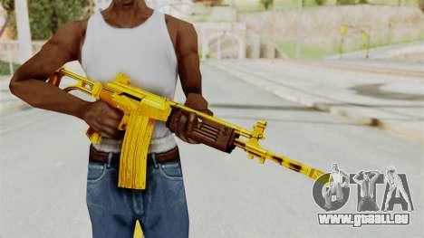 Galil Gold für GTA San Andreas dritten Screenshot