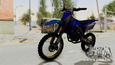 Suzuki RMZ 450 Gendarmerie v0.1 für GTA San Andreas rechten Ansicht