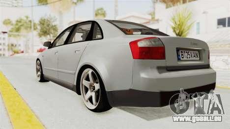 Audi A4 2002 Stock pour GTA San Andreas vue de droite