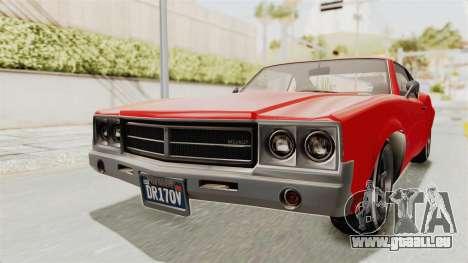 GTA 5 Declasse Sabre GT2 IVF für GTA San Andreas rechten Ansicht