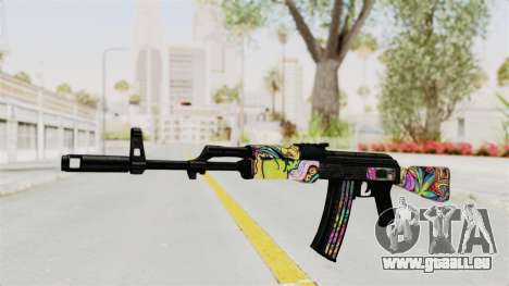 AK-47 Cannabis Camo pour GTA San Andreas