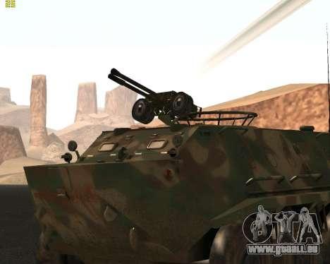 BTR 60 PA pour GTA San Andreas sur la vue arrière gauche