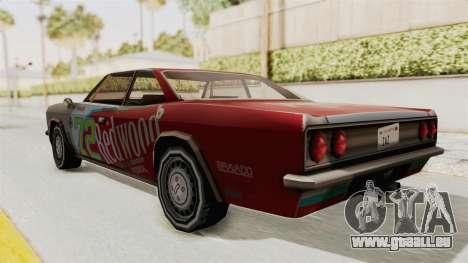 Redwood TaMpa pour GTA San Andreas sur la vue arrière gauche