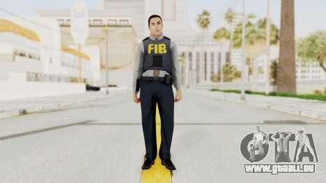 GTA 5 F.I.B. Ped für GTA San Andreas zweiten Screenshot