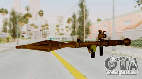 Rocket Launcher Gold für GTA San Andreas zweiten Screenshot