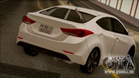 Hyundai ELANTRA 2015 STOCK für GTA San Andreas Rückansicht