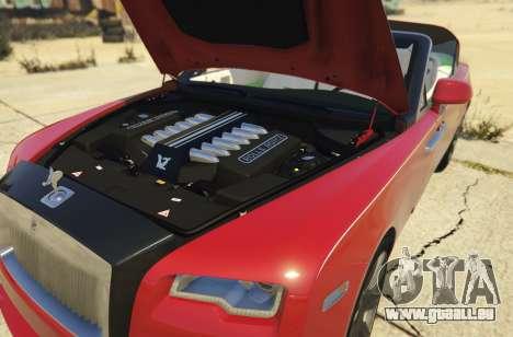 GTA 5 2017 Rolls-Royce Dawn arrière droit vue de côté