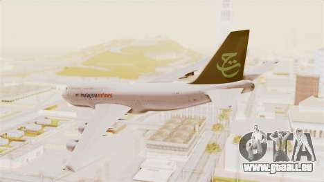 Boeing 747-400 Malaysia Airlines Tabung Haji pour GTA San Andreas laissé vue