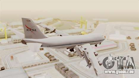 Boeing 747-123 NASA für GTA San Andreas linke Ansicht