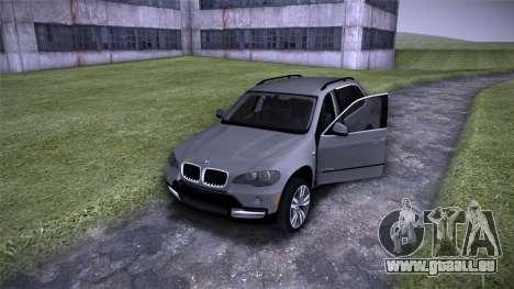 BMW X5 E70 pour GTA San Andreas vue intérieure