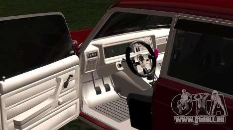 2107 JDM pour GTA San Andreas vue intérieure
