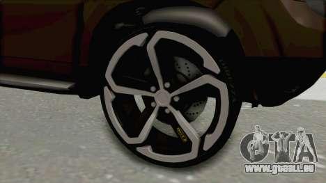 Dacia Duster 2010 Tuning für GTA San Andreas Rückansicht
