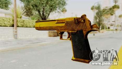 Desert Eagle Gold für GTA San Andreas dritten Screenshot