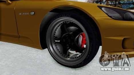 Honda S2000 S2K-AP1 pour GTA San Andreas vue arrière