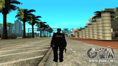 Police SWAT Skin for GTA San Andreas pour GTA San Andreas troisième écran