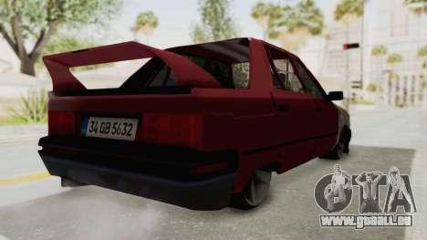 Renault Broadway pour GTA San Andreas sur la vue arrière gauche