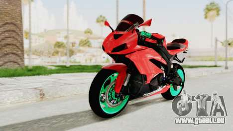 Kawasaki Ninja ZX-6R Highmodif pour GTA San Andreas
