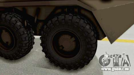 BTR-80 Desert Turkey für GTA San Andreas Rückansicht